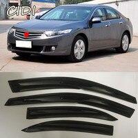 Free Shipping Car Styling Mugen Style Window Visor Sun Vent For Honda 2008 2012 8th accord Rain Guard Sun Rain Shield Stickers