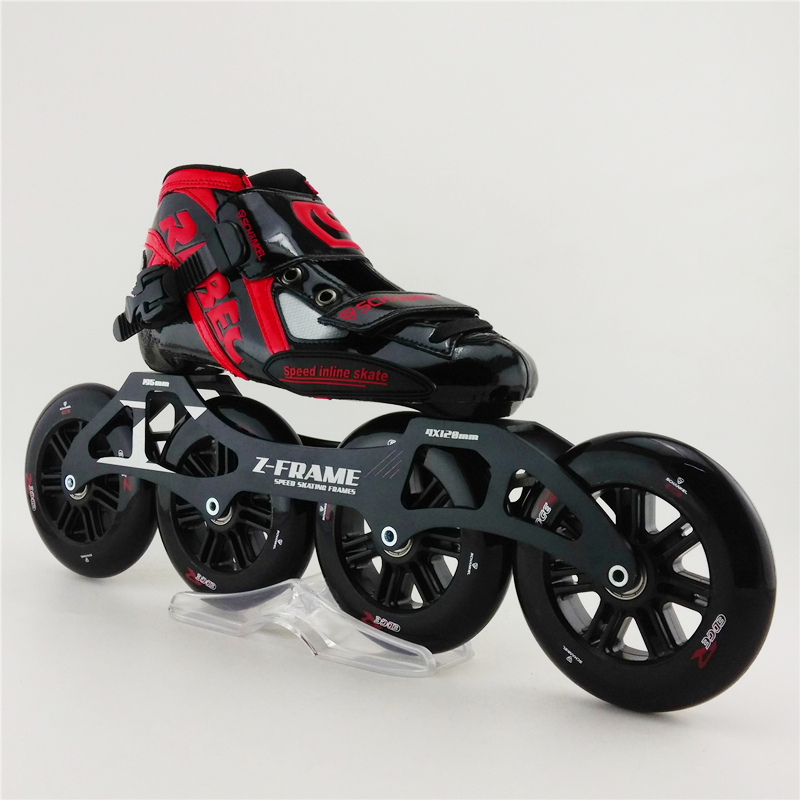 Adults speed skating high quality artistic professional roller skating shoes slalom skates inline single row skating