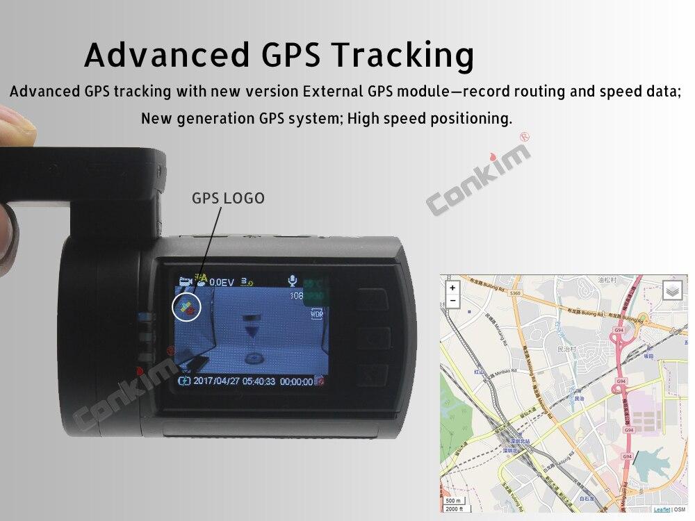 Conkim Mini 0906 Two Camera GPS Car DVR Registrar 1080P Full HD Rear View Camera Capacitor Dual Lens DVR Parking Guard Sensor 5