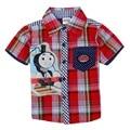 Thomas o trem e amigos roupas de alta qualidade roupas menino verão camisa de manga curta para crianças