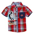 high quality thomas the train and friends clothes boy clothing summer short sleeve shirt for kids