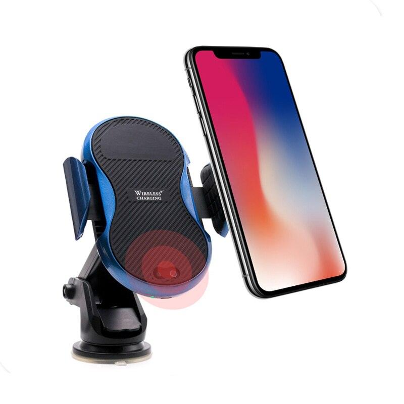 Capteur infrarouge automatique support de voiture QI chargeur rapide sans fil pour iphone X 8 Plus pour Samsung Galaxy S8 S9 Note 8 5 S7 S6