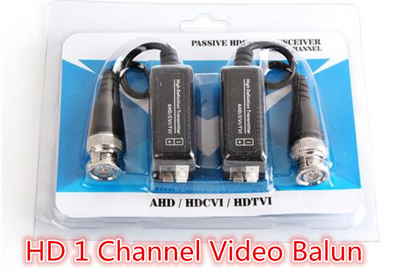 10Pairs Passive Video Balun Transmitter & Transceiver with Cable for 1080P TVI/CVI/TVI/AHD/960H DVR Camera CCTV System