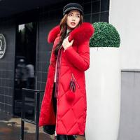 Original Design Nice New Thick Warm Casual Hooded Double Breasted Ladies Oversized Long White Goose Feather Coat Winter