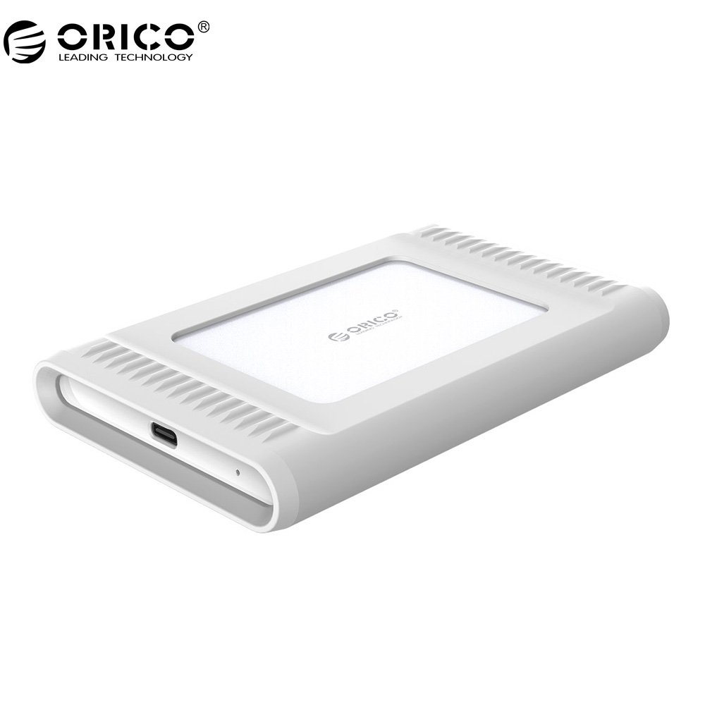 "ORICO 2.5"" USB3.1 Gen2 TYPE-C 1TB 10Gbps High-Speed Shockproof External Hard Drives HDD Desktop Laptop Mobile Hard Disk-Silver"