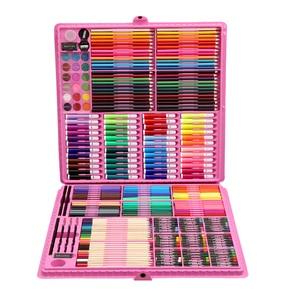 Image 5 - 168/288pcs 아트 세트 그림 수채화 그리기 도구 아트 마커 브러쉬 펜 용품 어린이 선물 상자 Office 편지지