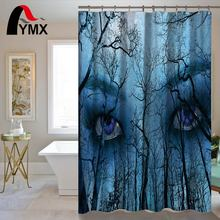 Waterproof Horror Style Eyes Shower Curtain For The Bathroom Polyester Decorations Curtains rideau de douche 12 hooks