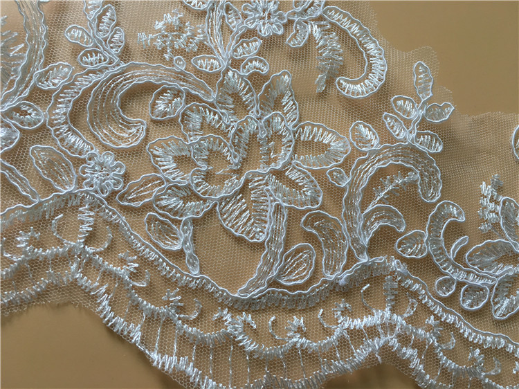 Delicate 9Yards High Quality Guipure Lace Trim Cheap French Embroidery Lace Trim For Lady Dress Hot Sale For 2019 in Lace from Home Garden