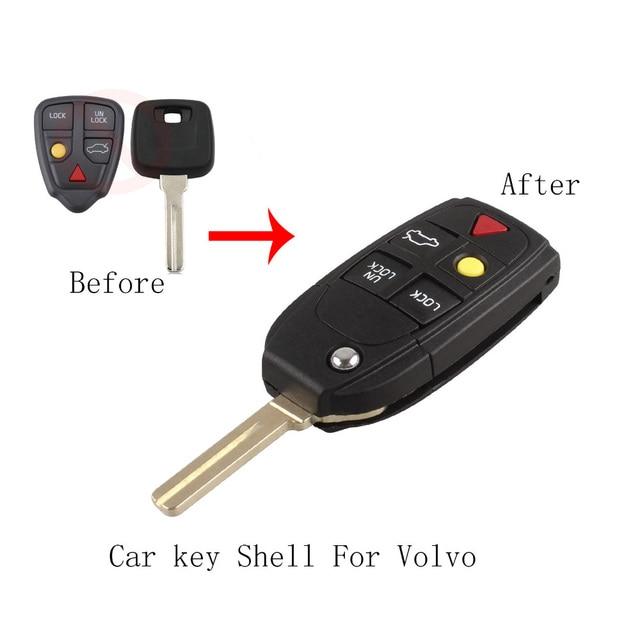 5buttons modified folding flip smart keyless entry remote key case