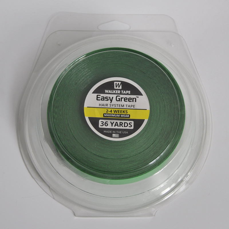 NEW ARRIVALS 2.54cm*36yards 2-4+ Weeks Easy Green Newest Maximum Wear Hair System Tape Wig Adhesive Tape For Wig/Hair Extension