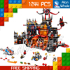 1244pcs New 14019 Combination Knights Jestros Vulkanfestung Model Building Blocks Minifigures Toys Nexus Compatible With Lego