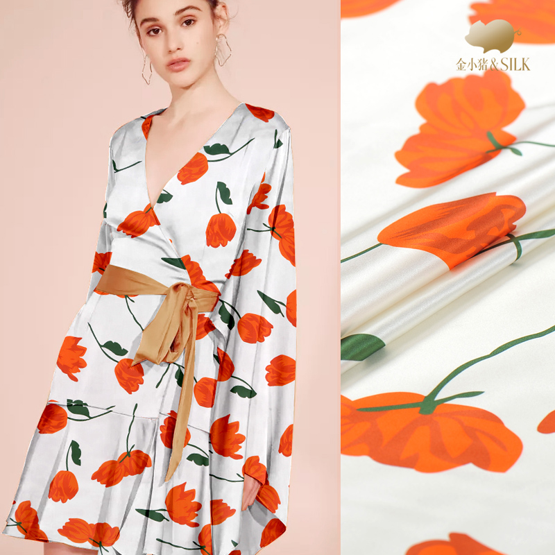 19mm digital printed silk satin fabric 108cm soft and breathable shirt dress silk stretch fabric wholesale silk cloth19mm digital printed silk satin fabric 108cm soft and breathable shirt dress silk stretch fabric wholesale silk cloth