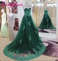 Платья для выпускного вечера кружевные аппликация с кристаллами бисером зеленое вечернее платье бальное кружевное длинное вечернее плать