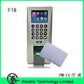 Huella digital de Control de Acceso Y Sistema de Puerta de Entrada Con Tarjeta RFID Atención del Tiempo de la Huella Digital F18 TCP/IP de Huellas Dactilares Cerradura de La Puerta