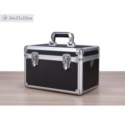 Алюминиевый Чехол для инструментов, чехол для инструментов, коробка для файлов, ударопрочный защитный чехол, коробка для паролей, чехол для ...