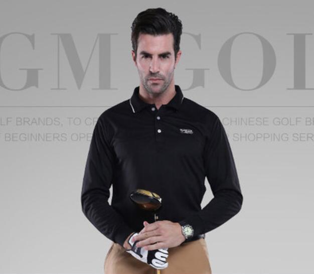 Nouveauté PGM marque hommes en plein air Fit Polomens Polo de Golf à séchage rapide à manches longues T-shirts de Golf vêtements chemise de Tennis de Table