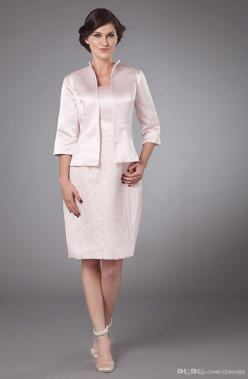 Costm 2 Piece graceful mother of the bride dress suits strapless ...