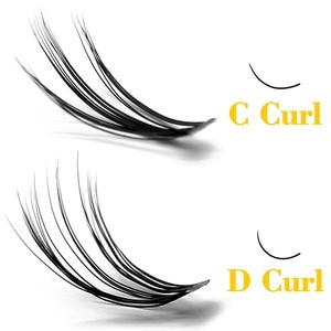 Image 2 - Kimcci 60 Bundles Mink Eyelash Extension Natural 3D Russian Volume Faux Eyelashes Individual 20D Cluster Lashes Makeup Cilia