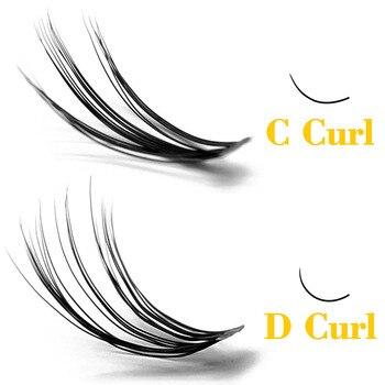Kimcci 60 Bundles Mink Eyelash Extension Natural 3D Russian Volume Faux Eyelashes Individual 20D Cluster Lashes Makeup Cilia