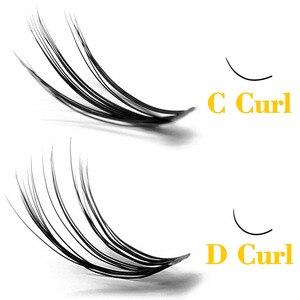 Image 2 - Kimcci 60 รวมกลุ่ม Mink Eyelash EXTENSION ธรรมชาติ 3D รัสเซีย Faux ขนตาแต่ละ 20D Cluster Lashes แต่งหน้า Cilia