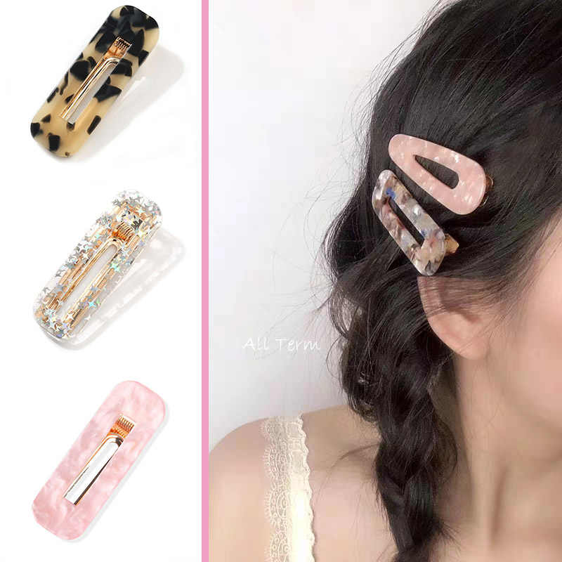 Imitation pearl Hair Clip 1psc Acrylic Hair Clips  Korea Style Cute Accessories  Candy Color Gift for Friends and girlfriend