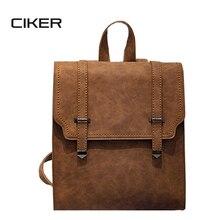 Ciker корейский стиль женщин pu рюкзак для девочек-подростков mochila mujer де couro плеча сумку моды женщин рюкзаки школьные мешки