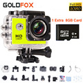 "Sj 4000 Видеокамера Full HD Спорт Dv 1080 P 1.5 ""ЖК Перейти Водонепроницаемый Pro 30 М Мини Видеокамера Шлем Cam 8 ГБ Micro Card"