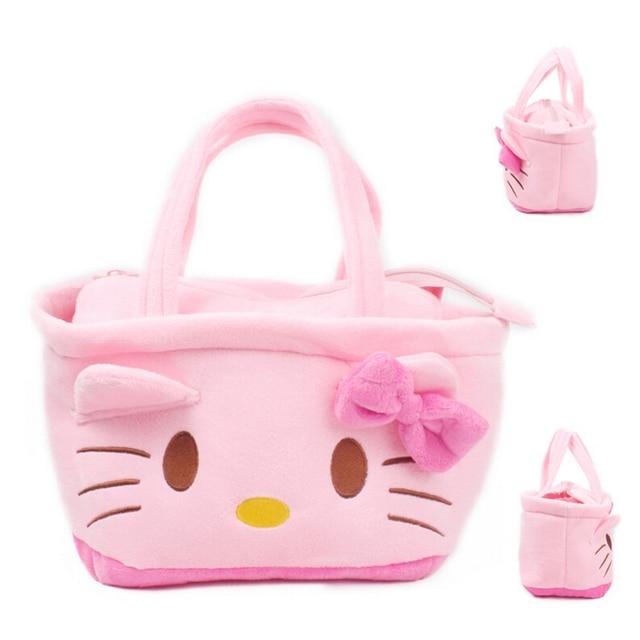 7ef8c3129546 2016 Pink Color Cute Kawaii Cartoon Hello Kitty Baby Girls Mini Soft Plush  Bag Kids Children Handbag for Toy