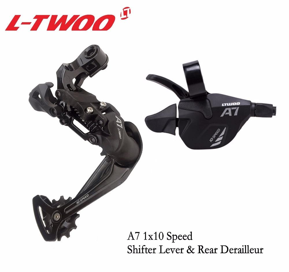 A7 1x10 LTWOO Bicicleta Groupset Shifter Gatilho Alavanca + Desviador Traseiro para Bicicleta MTB 10-Cassete Velocidade rodas dentadas 42T 46T 50T