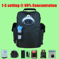 POC 06P 6 hours continuous oxygen portable oxygen concentrator includes 3 batteries a car inverter, a carry bag, a trolley