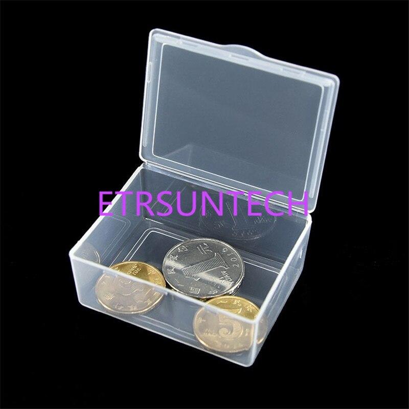 300 pcs/lot petites pièces boîtes en plastique pliables transparentes petites boîtes d'emballage de stockage de bijoux boîte de pièce de monnaie 5.5x4.2x2.3 cm-in Boîtes de rangement et bacs from Maison & Animalerie    2