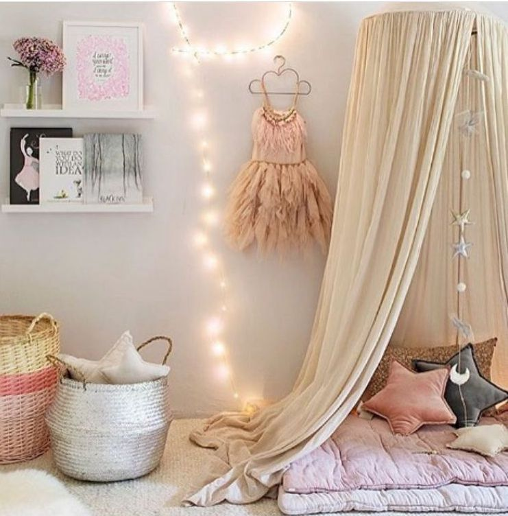 Kids Bed Canopy Bed Curtain Round Dome Hanging Mosquito Net Curtain Moustiquaire Zanzariera for Baby Kid Playing Home Decoration