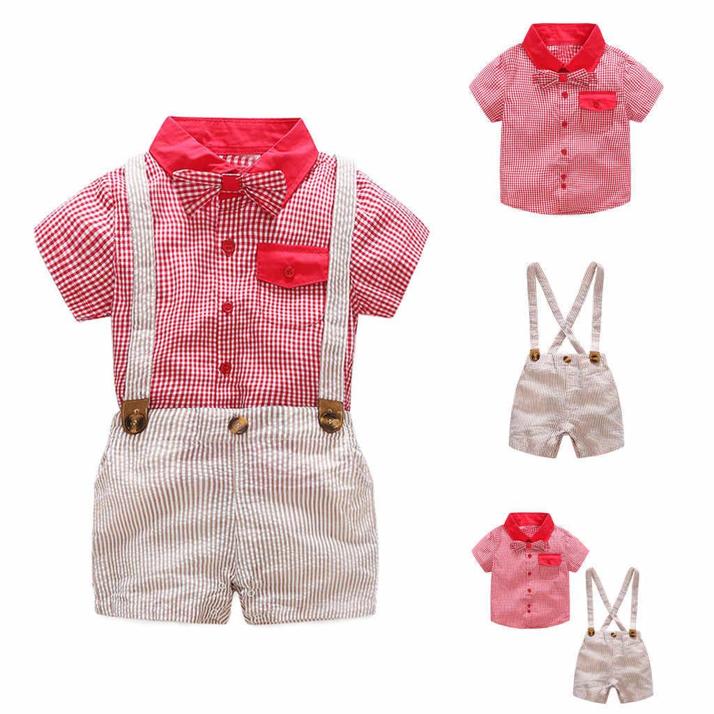 Комплект летней одежды для маленьких мальчиков и девочек одежда новорожденных