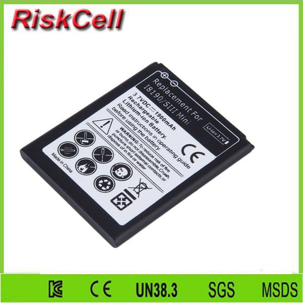 Free customs taxes and shipping  500pcs/lot  Battery EB425161LU for Samsung Galaxy S3 Mini i8190P Ace 2 GT-i8160 Duos 3 Pin