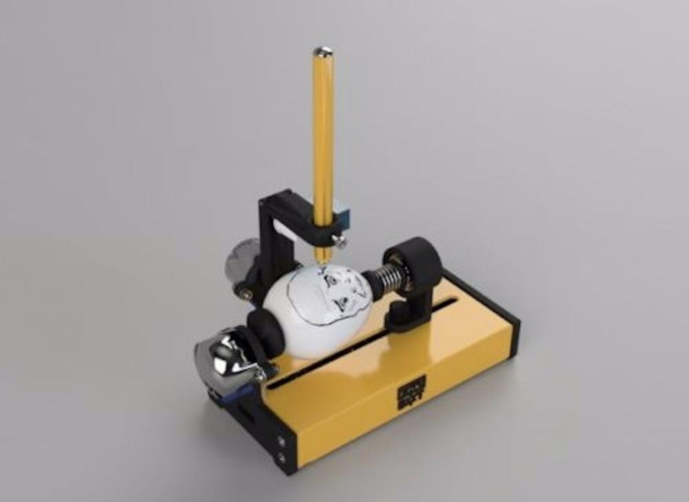 Peintre oeuf Mini (EggBot/Oeuf-Bot dérivé, de pâques, CNC) ensemble complet kit (Ce est un jouet, pas un outil professionnel)
