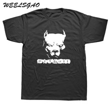 WEELSGAO Fashion Summer T-Shirt Men Tops PITBULL American Pit Bull Dog Tshirt Men's Comfortable Cotton T Shirt Tees