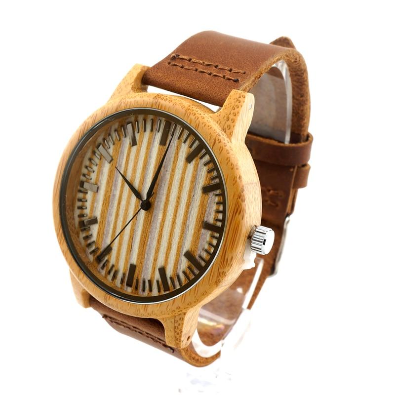 Prix pour BOBO BIRD A20 Hommes Montres 43mm Bambou Bois Montre Japon Mouvement 2035 Quart-montre Horloge en Cadeau Boîte relojes hombre 2016