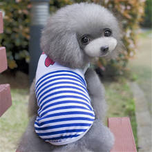 Fashion Dog Clothes Pet Puppy Summer Vest Small Dogs Clothing Cotton T Shirt Apparel Teddy