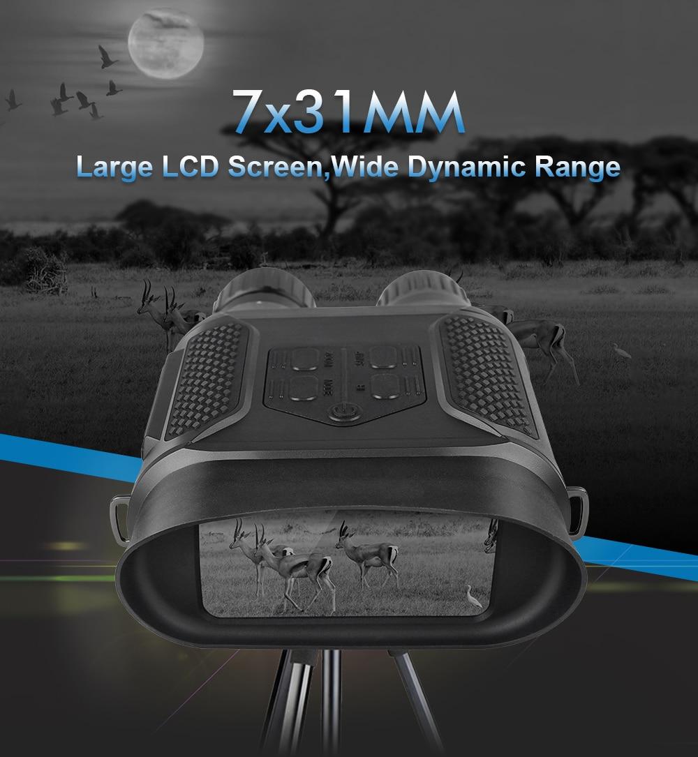 7X31 Nachtsicht Fernglas Infared Digitale Jagd 400M Umfang 2,0 LCD Military Tag Nachtsicht Brille Teleskop foto Huntet