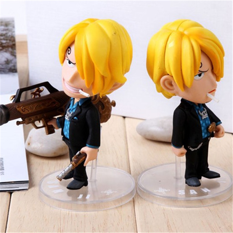 1pc/lot Anime One Piece Sanji Figures Cute Action Figures PVC Toys Doll Model Collection Kids Toys 12cm