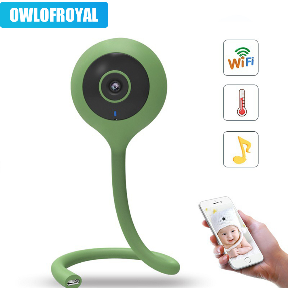 1080P HD Wireless Baby Monitor Wifi Camera 2 Way Audio Night Vision Security Camera Temperature Monitor Lullaby Babysitter