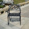 Лот из 2 частей антикоррозийный литой алюминиевый для Патио обеденный стул сверхмощный для сада двора у бассейна