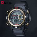2016 New OTS Brand Men LED Digital Military Watch, 50M Dive Swim Dress Sports Watches Fashion Outdoor Clock Hour Wristwatches
