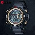 2016 Nova Marca OTS Homens LEVARAM Relógio Digital de Militares, 50 M Dive Swim Vestido Sports Moda Relógios Ao Ar Livre Relógio Hora Relógio de Pulso