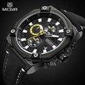 Top Marke Luxus MEGIR Military Chronograph Sport Herrenuhren Quarzuhr Mode Lederband Uhr Männlich Relogio Masculino