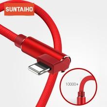 Suntaiho Cable cargador para iPhone XR XS Max 7 X XR 8 6 Plus, Cable para iPhone xs max 5S iPad, Mini cargador rápido