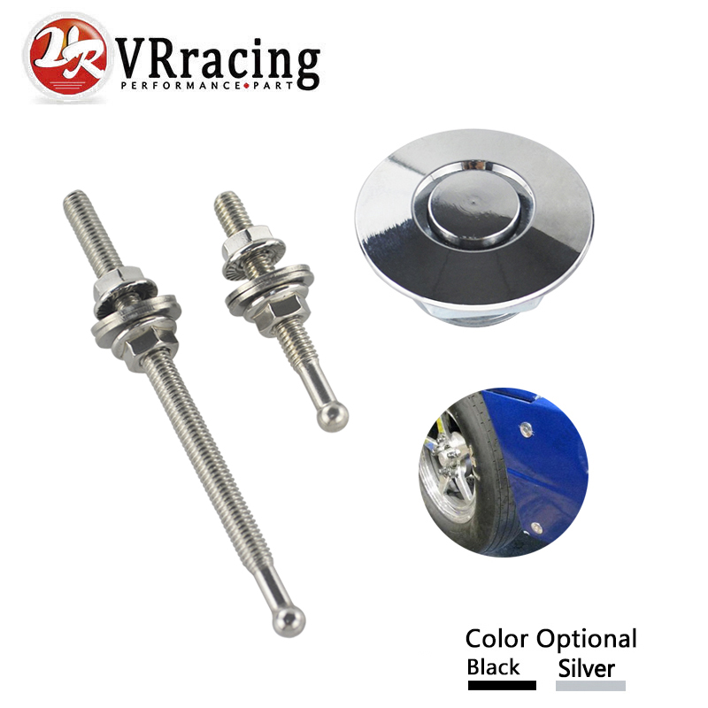 VR RACING - 1.25 Universal JDM Style Push Button Billet Hood Pins Lock Clip Kit Car Quick Pins For BMW ect VR-HPL04/05