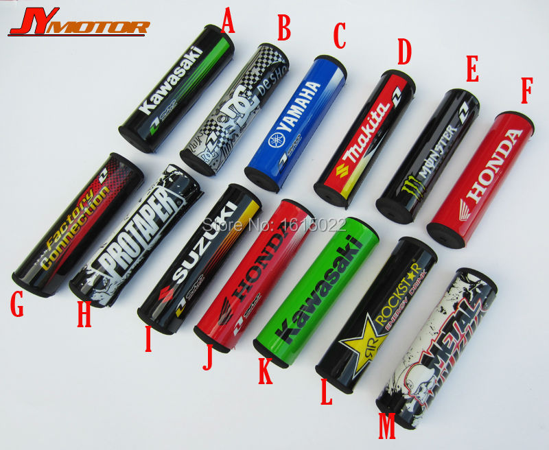 13Pcs/lot 7/8 Handlebar Cross Bar Pad Chest Protector For ATV Motorcycle Motocross Supermoto Dirt Pit Bike CRF YZF KLX