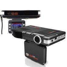 Excelente! 3 EM 1 Detector de Radar Do Carro (Russian voz) DVR GPS Logger Gravador de Vídeo HD 720 P 140 Graus de Ângulo de Língua Russa