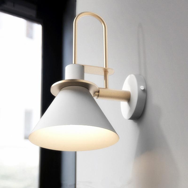 Macarons Loft Bedroom Bedside Led Wall Lamp Creative Living Room Study Aisle Balcony Wall Sconce Lighting